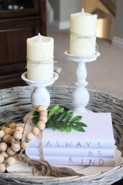Personalized farmhouse book stacks made with