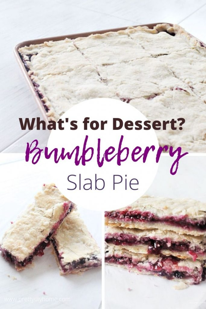 A large triple berry slap pie recipe or bumbleberry pie with a light flakey crust and fresh berry filling.