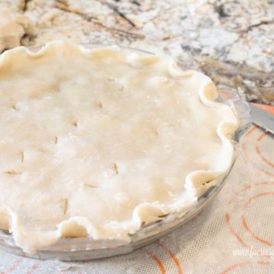 Large Traditional Pie Crust Recipe