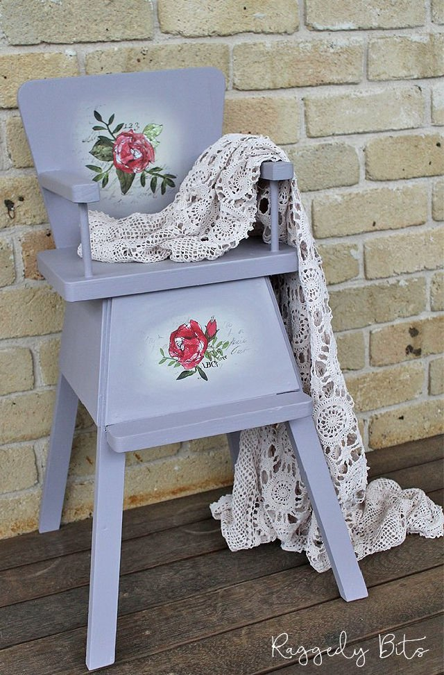 Vintage Doll Chair Upcycle