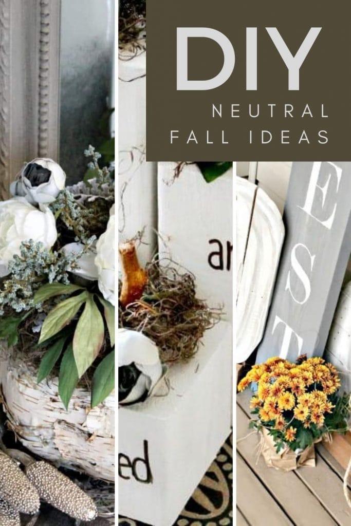 Neutral Fall craft ideas for DIY pumpkins.