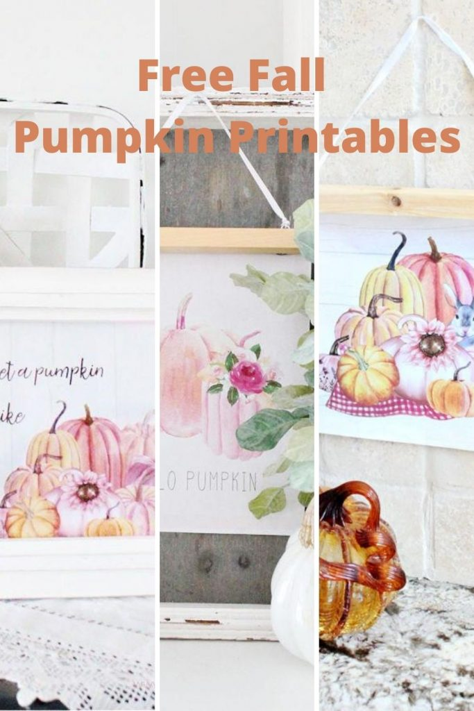 Three styles of pumpkin printables for cheap Fall decor ideas.