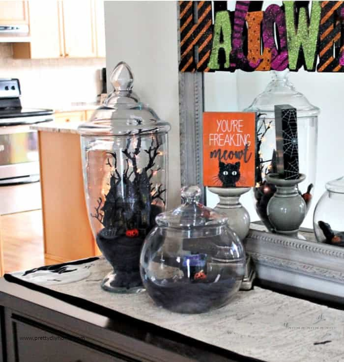 Halloween Apothecary Jars Easy Halloween Decor Pretty Diy Home