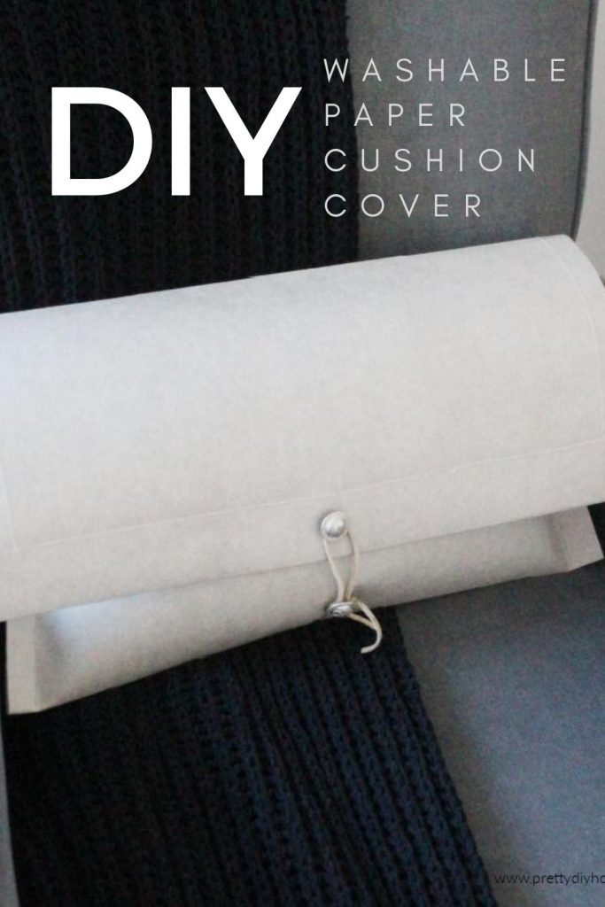 Stone coloured washable paper DIY cushion cover for Fall