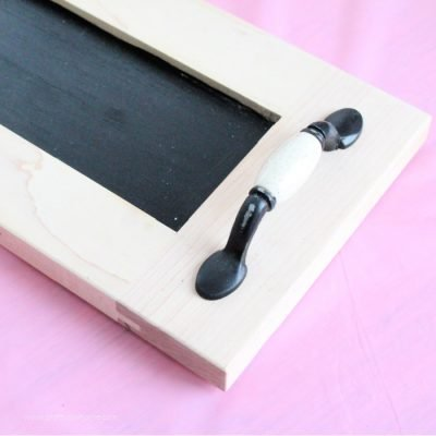 Upcycled DIY Tray with Chalkboard Surface