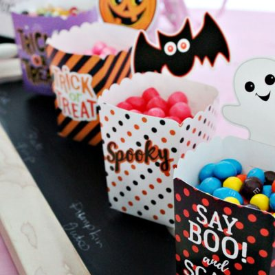 Pink Halloween Candy Buffet