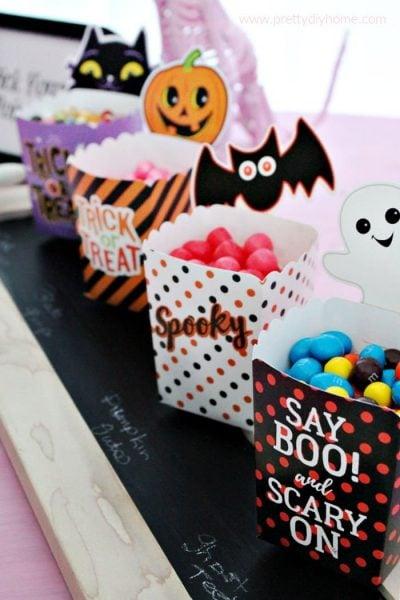 Easy Halloween Party Candy Buffet Idea
