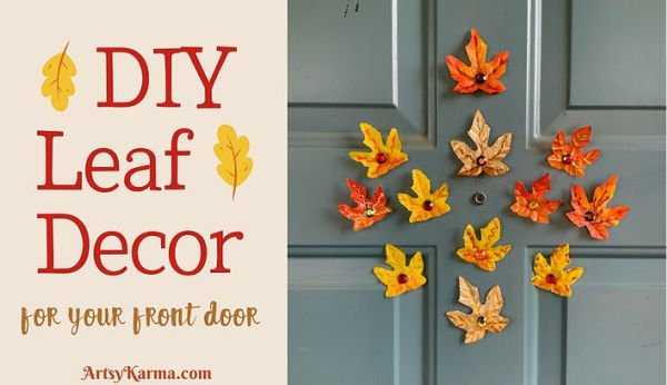 Pretty leaf magnet craft for Fall