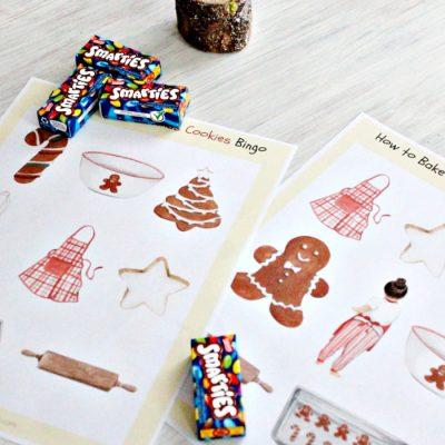 Baking Cookies Christmas Bingo Game for Kids