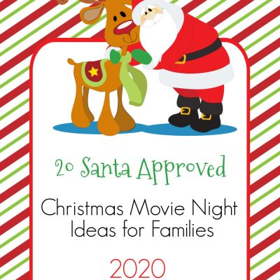 Santa and Rudolph Christmas Graphic for Christmas movie listings.
