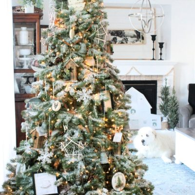 Neutral Farmhouse Christmas Tree