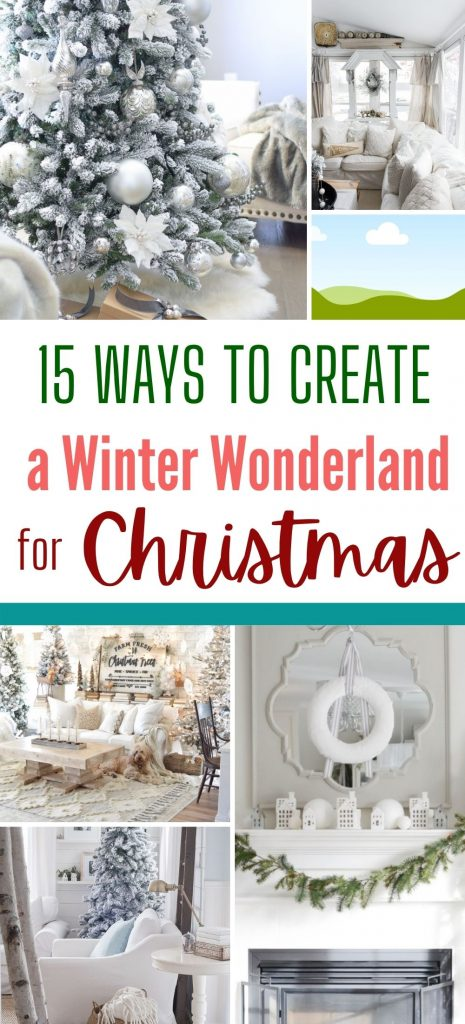 A collection of 15 idea for white Christmas decor,