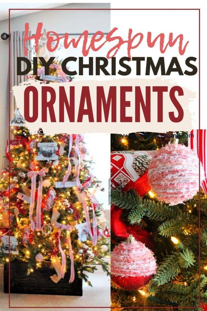 Homespun DIY Christmas Ornaments Update