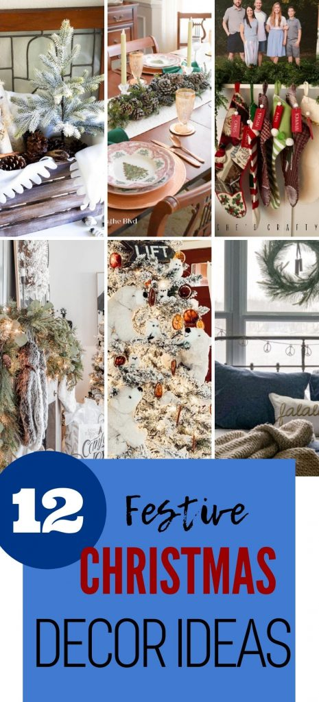 A collection of Christmas home decor ideas for the mantel, kitchen, bedroom, and living room home tours.