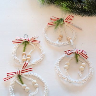 Easy Macrame DIY Christmas Tree Ornament