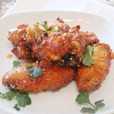 Hot and Sweet Baked Chicken Wings