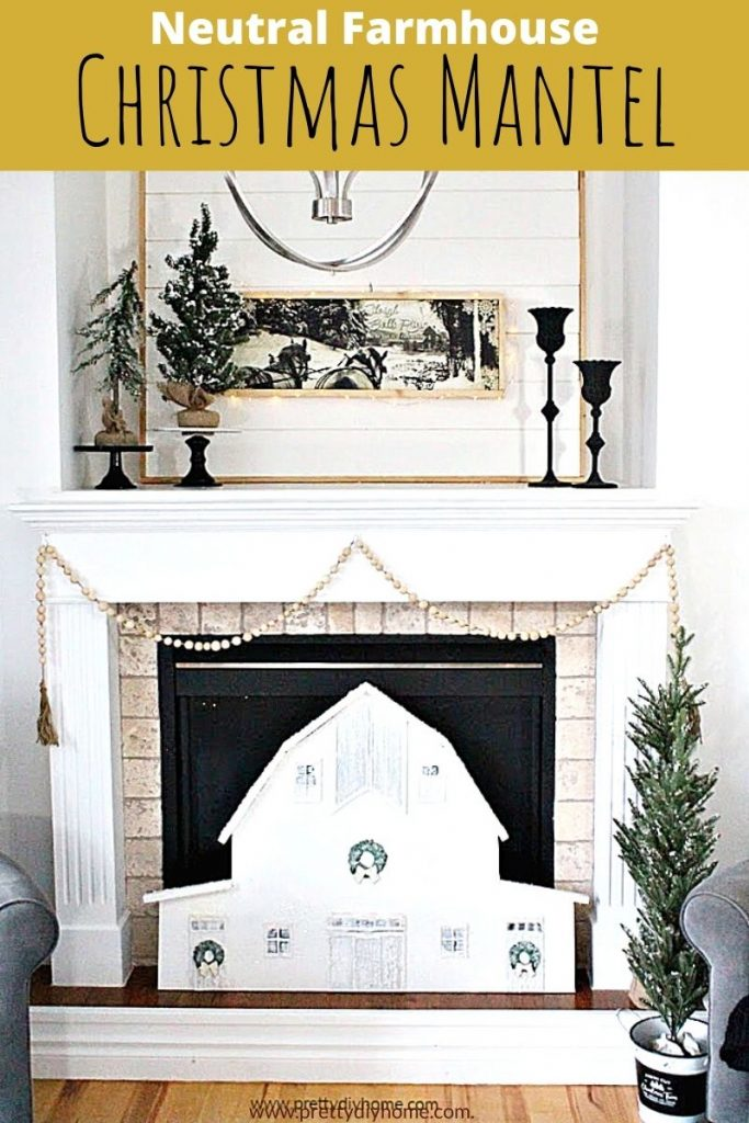 Neutral or White Christmas Decor for the Firehouse is a modern Farmhouse Style