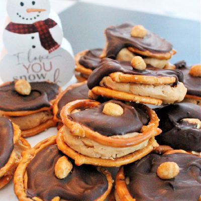 Chocolate Covered Peanut Butter Pretzel Treats