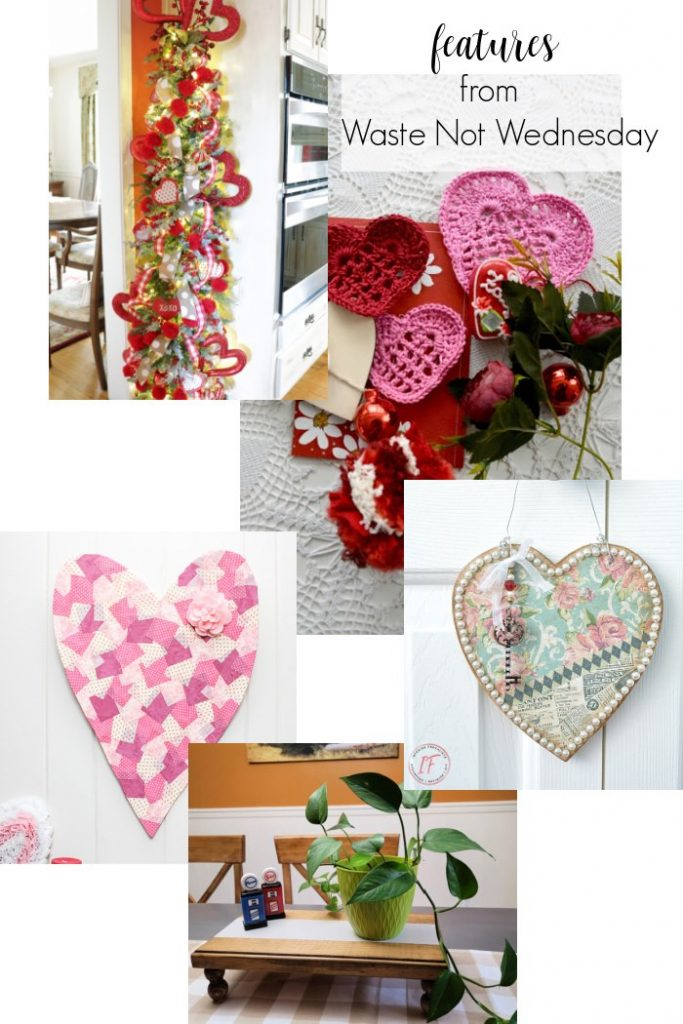 DIY valentines, a crocheted valenting, a crafted valentines, a valentines tree.