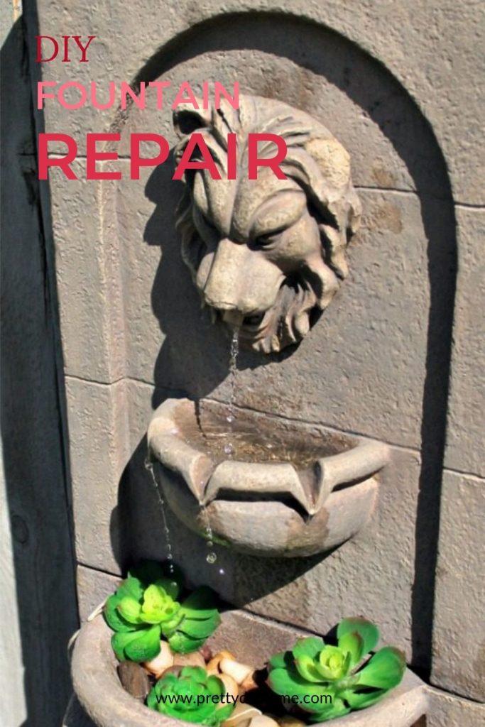 Diy Water Fountain Repair Tutorial, Outdoor Water Fountain Pump Repair
