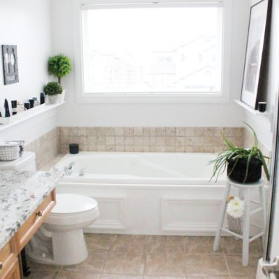 Cheap Ways to Update a Builder Grade Bathroom
