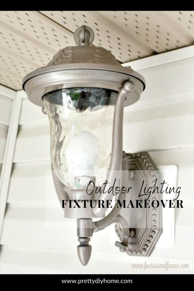 An outdoor lighting fixture makeover with a large front porch light that