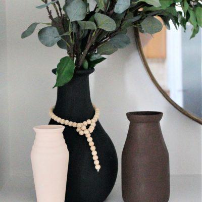 DIY Faux Ceramic Vase Thrift Store Makeover