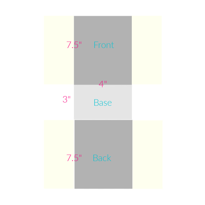 soft yellow sides on grey pieces for diagram of how to make a DIY fabric basket