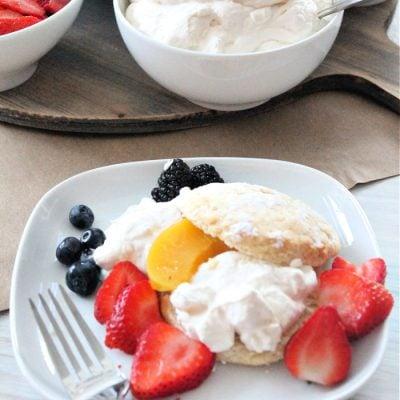 Sweet Biscuit Classic Strawberry Shortcake Charcuterie Dessert Board