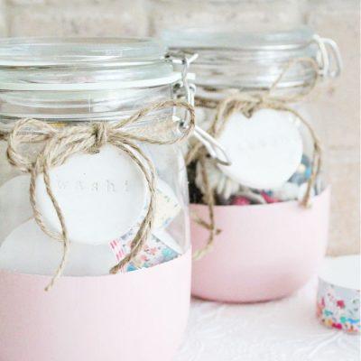 DIY Craft Room Storage Jars