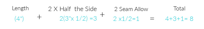 Width Calculation for DIY Fabric Basket
