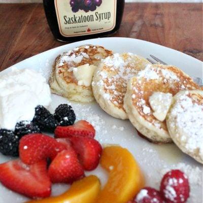 Lemon Ricotta Silver Dollar Pancakes Recipe
