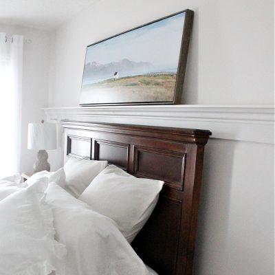 DIY Peg Rail Shelves in the Bedroom