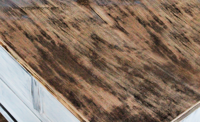 Wood grain starting to show on stripped veneer